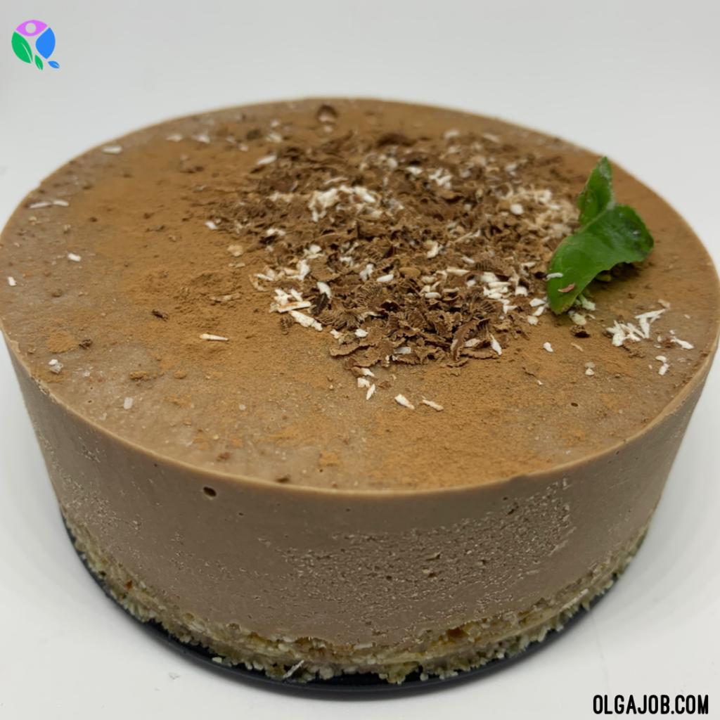 Raw Vegan Chocolate Cheesecake - olgajob.com